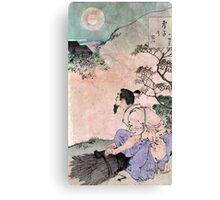 Moon Of The Filial Son - Yoshitoshi Taiso - 188- - woodcut Canvas Print