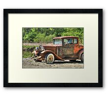 Rad Rusty Ride Framed Print