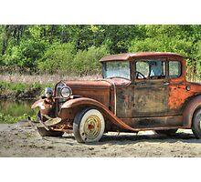Rad Rusty Ride Photographic Print