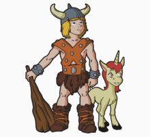 Bobby The Barbarian & Uni The Unicorn Kids Tee
