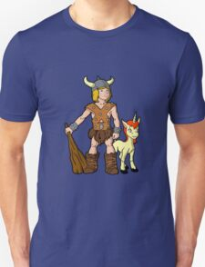 Bobby The Barbarian & Uni The Unicorn T-Shirt