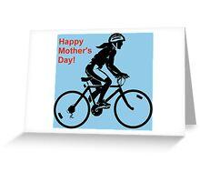 Mother's Day Card - biking  Greeting Card