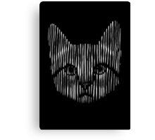 Monochrome Kitty Canvas Print