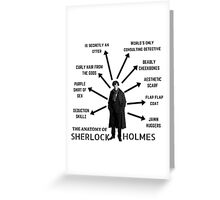The Anatomy of Sherlock Holmes Greeting Card