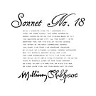 Shakespeare Sonnet No. 18 by Sally McLean