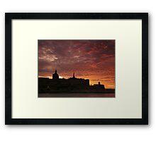 Mediterranean Sunset Framed Print