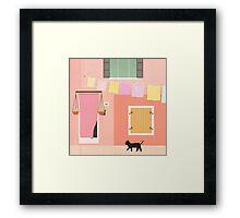 Little Pink House Framed Print