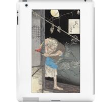 Moon Over A Single Dwelling - Yoshitoshi Taiso - 1880 - woodcut iPad Case/Skin