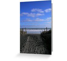 To Piha Beach Greeting Card