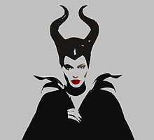 MALEFICENT iPhone Case (Grey) by ceruleann