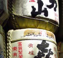 Sake Barrels Sticker