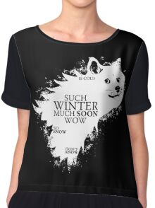 Game of Thrones game of Doge Chiffon Top