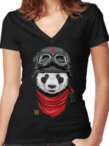 The Happy Adventurer Women's Fitted V-Neck T-Shirt