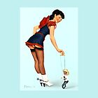 Pin-Up Girl 'Stick 'Em Up!'  by Fiona Stephenson