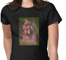 Anna's Hummingbird Drinking From Pink Penstemon Womens Fitted T-Shirt