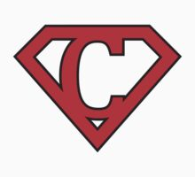 C letter in Superman style Kids Clothes