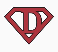 D letter in Superman style by Stock Image Folio
