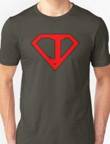 J letter in Superman style Unisex T-Shirt