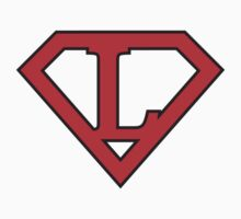 L letter in Superman style Baby Tee