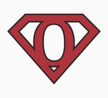 O letter in Superman style One Piece - Short Sleeve