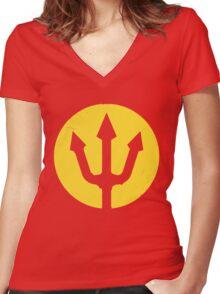 Belgian Red Devils Women's Fitted V-Neck T-Shirt