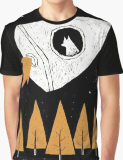 Rocket To The Moon Graphic T-Shirt