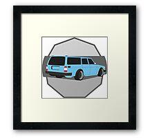 245Hauler Blue Framed Print
