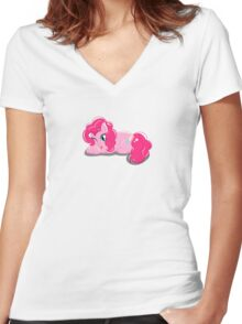 Pinkie Pie Women's Fitted V-Neck T-Shirt