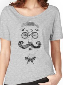 vintage bike face - black Women's Relaxed Fit T-Shirt