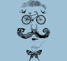 vintage bike face - black Unisex T-Shirt