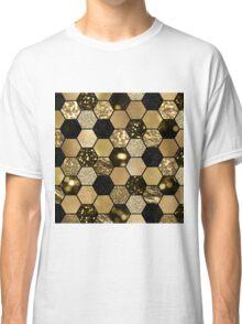 Dark gold foil hexaglam Classic T-Shirt