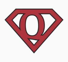 Q letter in Superman style One Piece - Long Sleeve