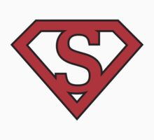 S letter in Superman style by Stock Image Folio