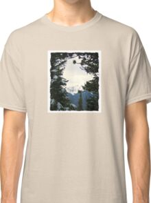 Branch framed mountain view in Banff Classic T-Shirt