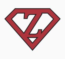 Z letter in Superman style Kids Clothes