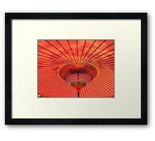 Japanese Parasol Framed Print