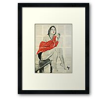 Red sweater.  Framed Print