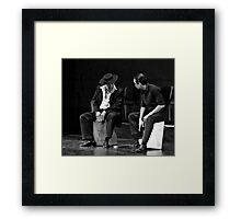 Playing The Cajon Framed Print
