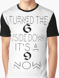 6 Upside Down Graphic T-Shirt