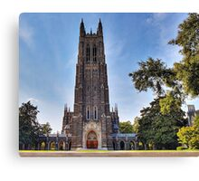 The Gothic Cathedral of Duke University Canvas Print