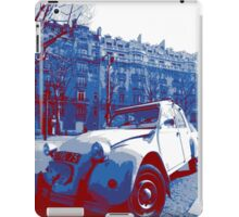 Citroen 2Cv: red, white and blue iPad Case/Skin