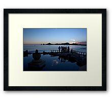 Baja Silhouettes Framed Print