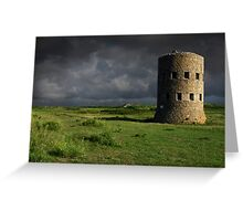Martello Tower Landscape Guernsey Greeting Card