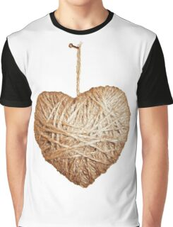 Yarn Heart Graphic T-Shirt