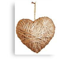 Yarn Heart Canvas Print