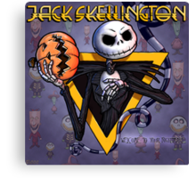 Jack Skellington : welcome to your nightmare Canvas Print
