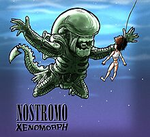 Nostromo : xenomorph by Bleee