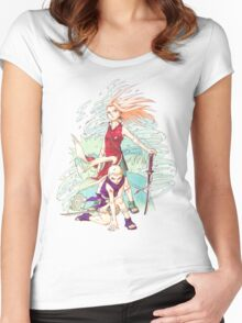 Sakura & Ino Women's Fitted Scoop T-Shirt