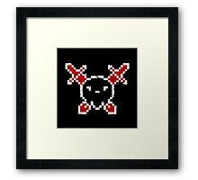 Skull Sword Emblem  Framed Print