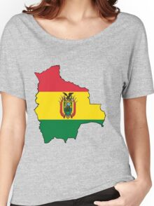 Bolivia Map with Bolivian Flag Women's Relaxed Fit T-Shirt